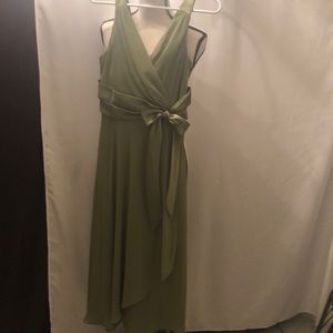 Evan Picone Flowy Green Holiday Dress Size 10